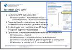 tavoitteet 2006 2007
