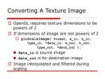 converting a texture image