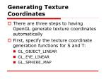 generating texture coordinates