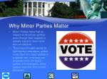 why minor parties matter