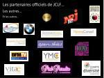les partenaires officiels de jclf