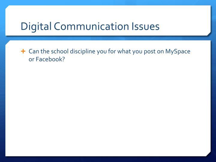 Digital Communication Issues