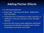 adding partner effects