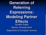 generation of referring expressions modeling partner effects