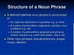 structure of a noun phrase