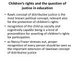 children s rights and the question of justice in education