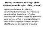 how to understand inner logic of the convention on the rights of the children2