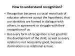 how to understand recognition