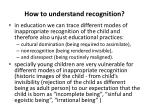 how to understand recognition1