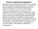 how to understand recognition2