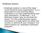 employee analysis