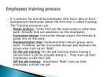 employees training process