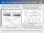 near earth magnetotail current sheet