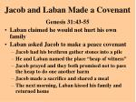 jacob and laban made a covenant