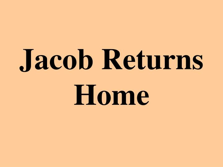 jacob returns home n.