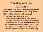 wrestling with god