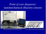 point of care diagnosis nanomechanical olfactory sensors