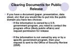 clearing documents for public release