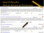 search results african american politicians