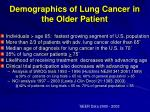 demographics of lung cancer in the older patient