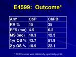 e4599 outcome