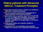 elderly patients with advanced nsclc treatment principles