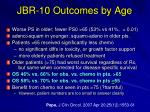 jbr 10 outcomes by age