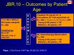 jbr 10 outcomes by patient age