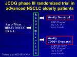 jcog phase iii randomized trial in advanced nsclc elderly patients