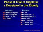 phase ii trial of cisplatin docetaxel in the elderly