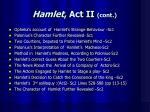 hamlet act ii cont