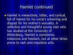 hamlet continued