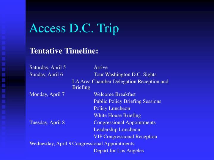 Access D.C. Trip