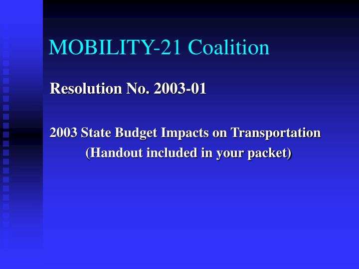 MOBILITY-21 Coalition