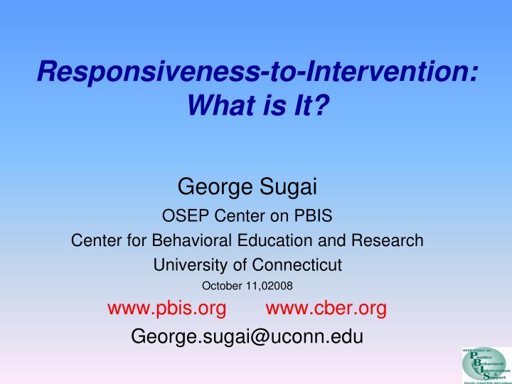 responsiveness to intervention what is it n.