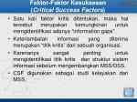 faktor faktor kesuksesan critical success factors1