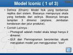 model iconic 1 of 3