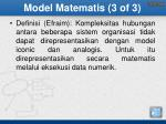 model matematis 3 of 3