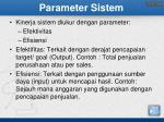 parameter sistem