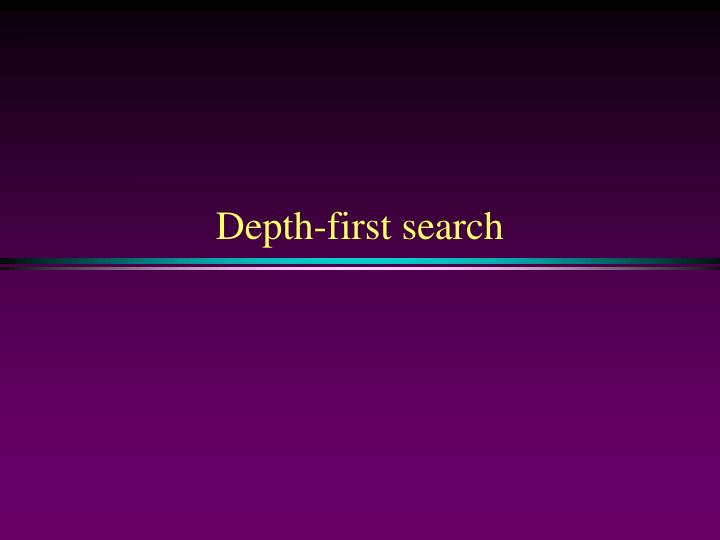 depth first search n.