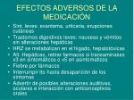 efectos adversos de la medicaci n