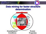 data mining for faster structure determination1