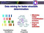 data mining for faster structure determination4