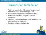 reasons for termination