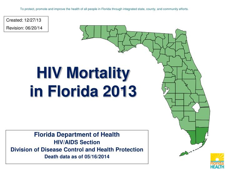 hiv mortality in florida 2013 n.