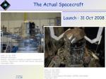 the actual spacecraft