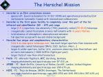 the herschel mission