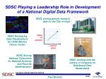 sdsc playing a leadership role in development of a national digital data framework