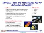 services tools and technologies key for data related capability