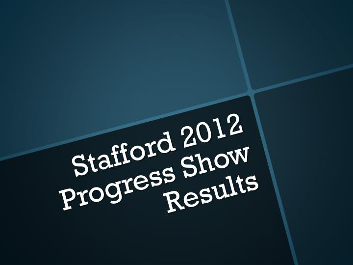 stafford 2012 progress show results n.